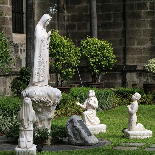 Blessed lady of fatima and three shepherd children outdoor garden statues online sale TCH-65