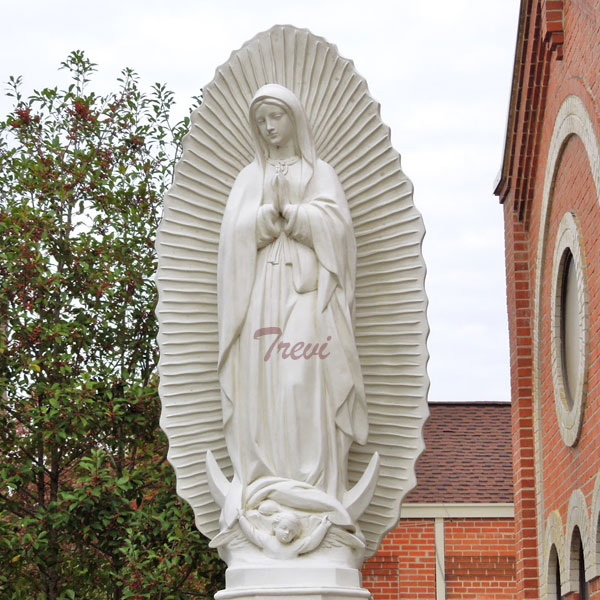 Buy marble statue of our lady of Guadalupe blessed mary religious church statues TCH-199