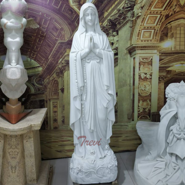 Catholic church blessed mary lady lourdes rosary beads statues outdoor