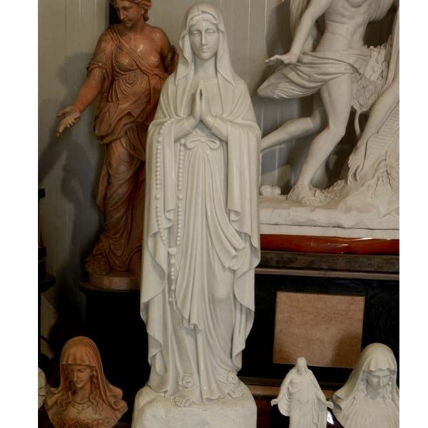 Our lady of rosary blessed mother lourdes statues for outdoor church TCH-93