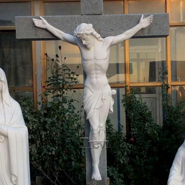 Famous Religious Crucifixion of Jesus Marble Sculpture for Sale CHS-288