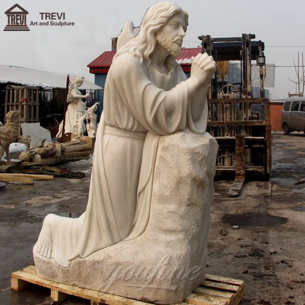 High-quality Kneeling Guardian Jesus Marble Statue for Sale CHS-295