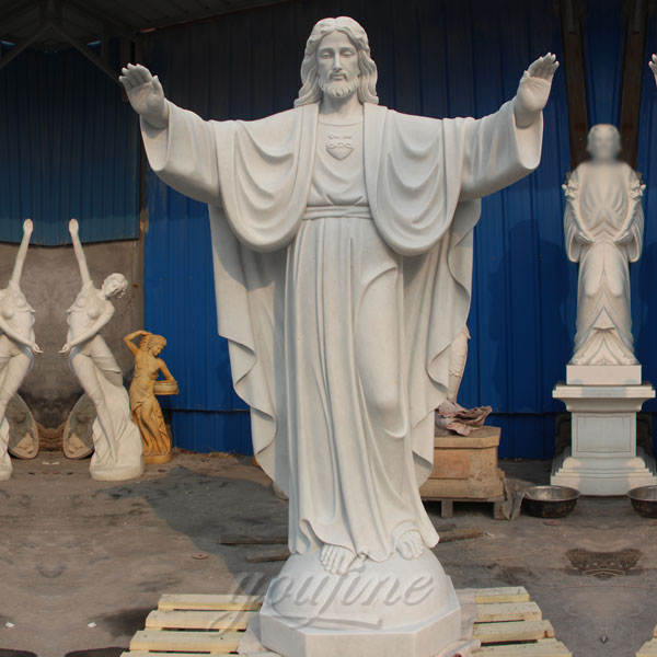 Hand-carved Life-size Marble Statue of Jesus for Sale CHS-291