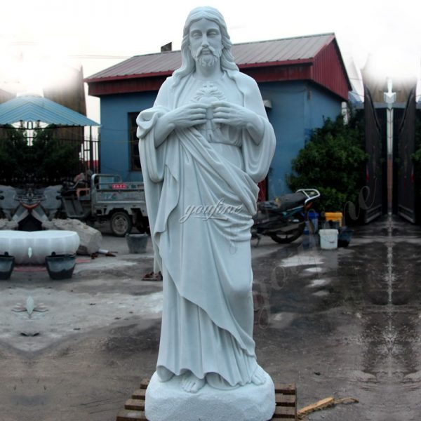 Garden Church Decoration Marble Saint Jesus Heart Sculpture for Sale CHS-294