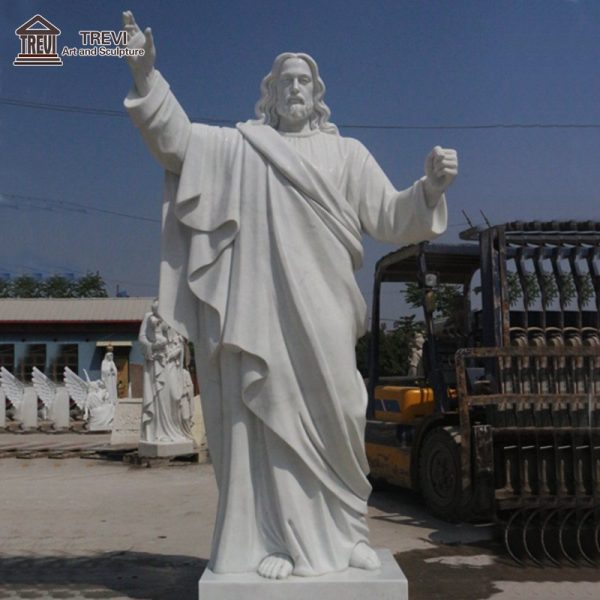 Customized Outdoor White Marble Jesus Sculpture for Sale CHS-608