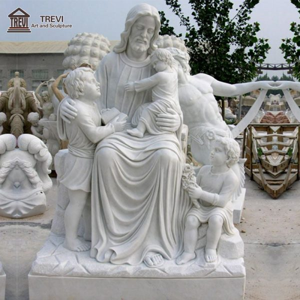 High Quality Marble Jesus and Kids Sculpture for Sale CHS-704