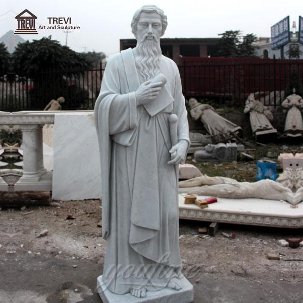 Life-size Religious Church Saint Paul Marble Sculpture for Sale CHS-250