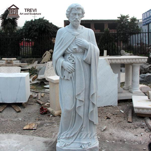 Life-size Religious Saint Peter Church Marble Sculpture for Sale CHS-251